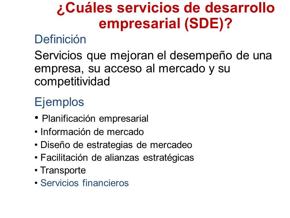 ¿Cuáles servicios de desarrollo empresarial (SDE).