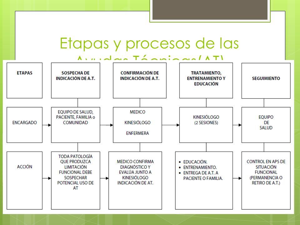 Etapas y procesos de las Ayudas Técnicas(AT)