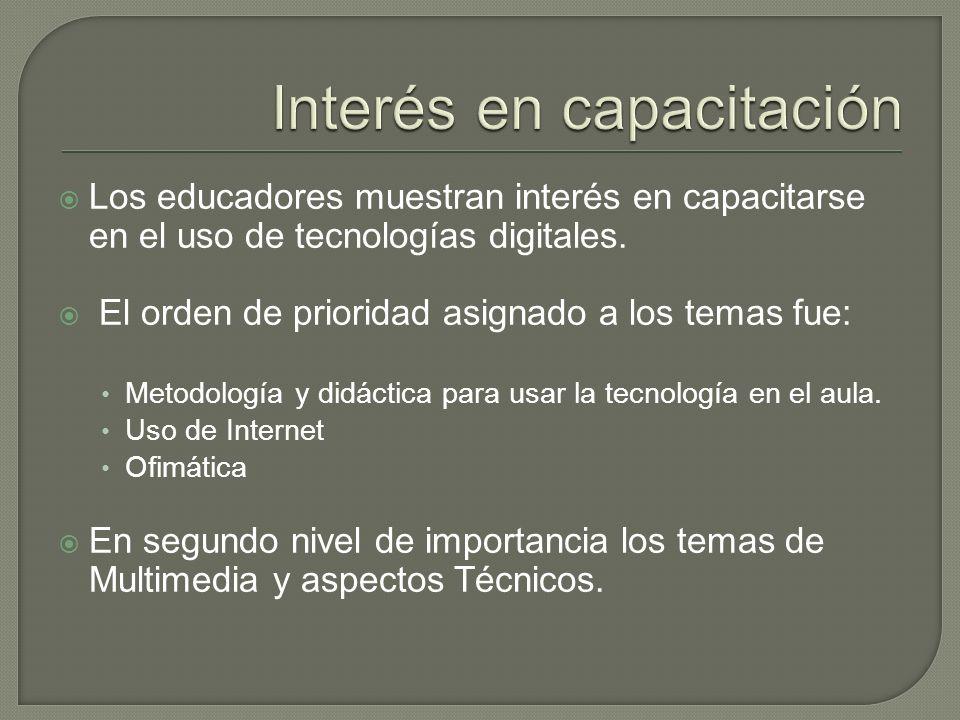 Los educadores muestran interés en capacitarse en el uso de tecnologías digitales.