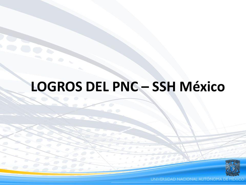 LOGROS DEL PNC – SSH México
