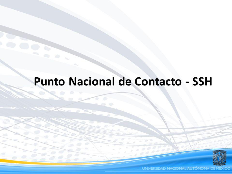 Punto Nacional de Contacto - SSH