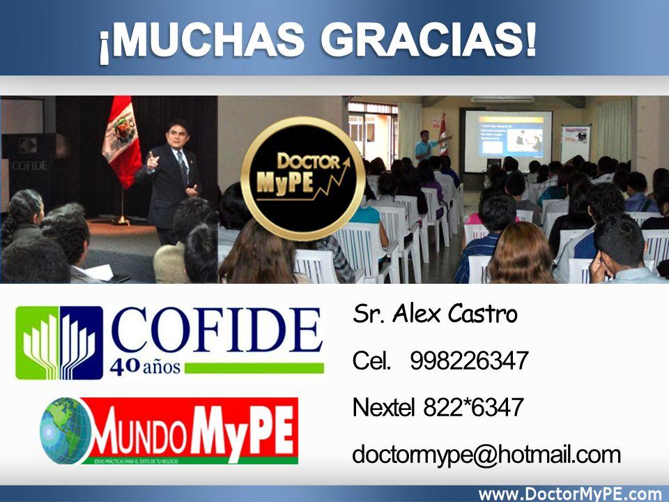 Sr. Alex Castro Cel. 998226347 Nextel 822*6347 doctormype@hotmail.com
