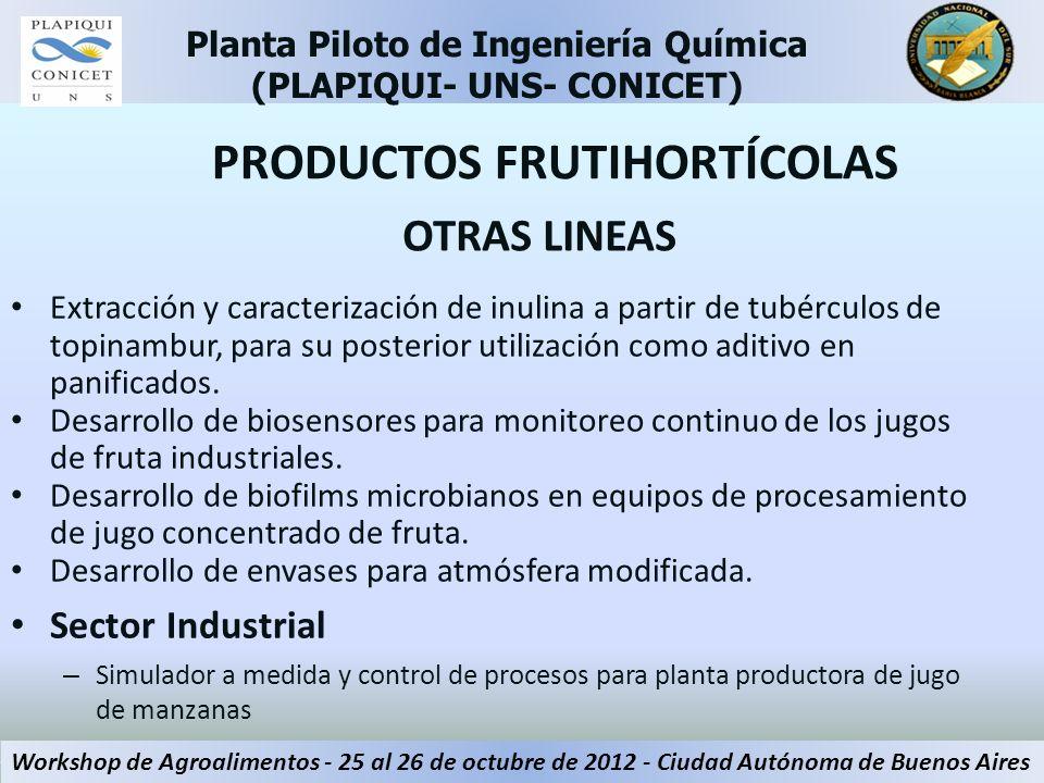 OTRAS LINEAS Extracción y caracterización de inulina a partir de tubérculos de topinambur, para su posterior utilización como aditivo en panificados.