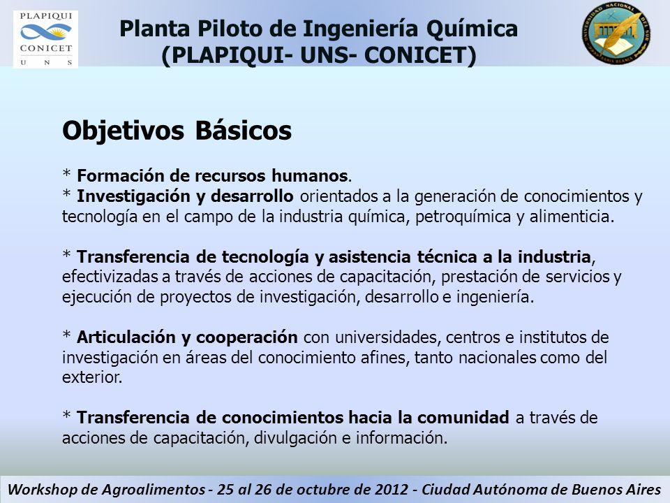 Objetivos Básicos * Formación de recursos humanos. * Investigación y desarrollo orientados a la generación de conocimientos y tecnología en el campo d