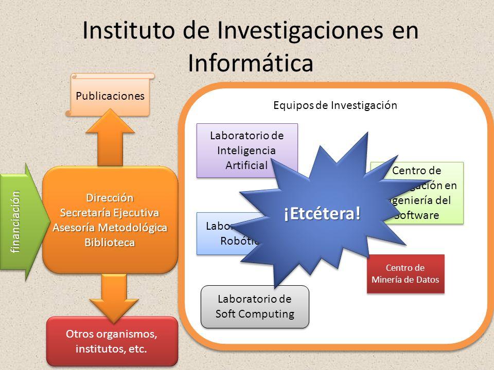 Instituto de Investigaciones en Informática Equipos de Investigación Laboratorio de Inteligencia Artificial Centro de Investigación en Ingeniería del
