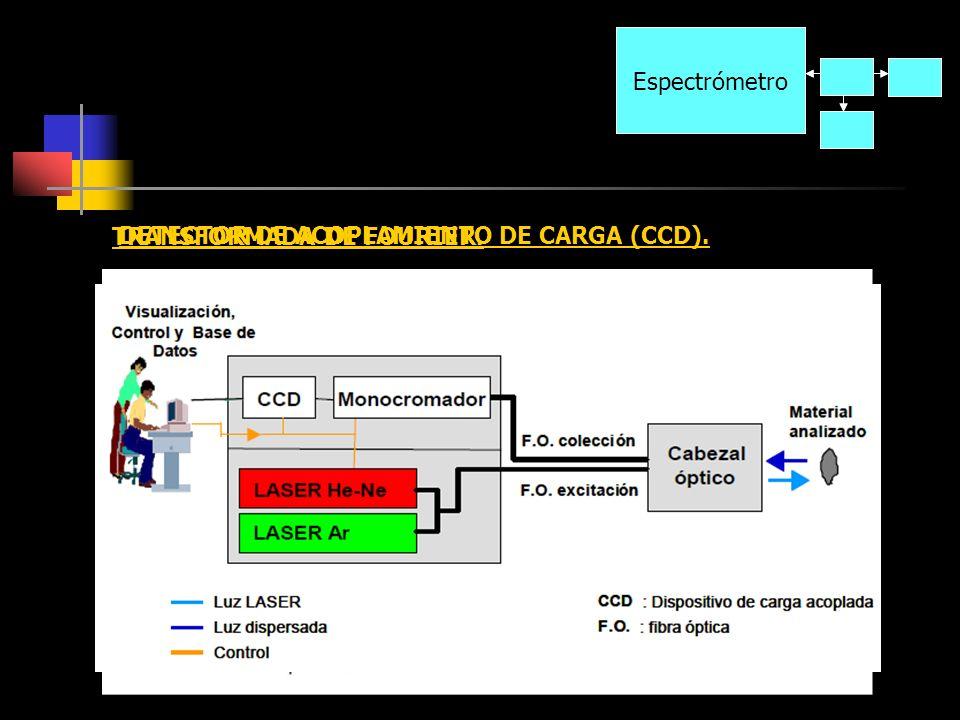 Espectrómetro TRANSFORMADA DE FOURIER. DETECTOR DE ACOPLAMIENTO DE CARGA (CCD).