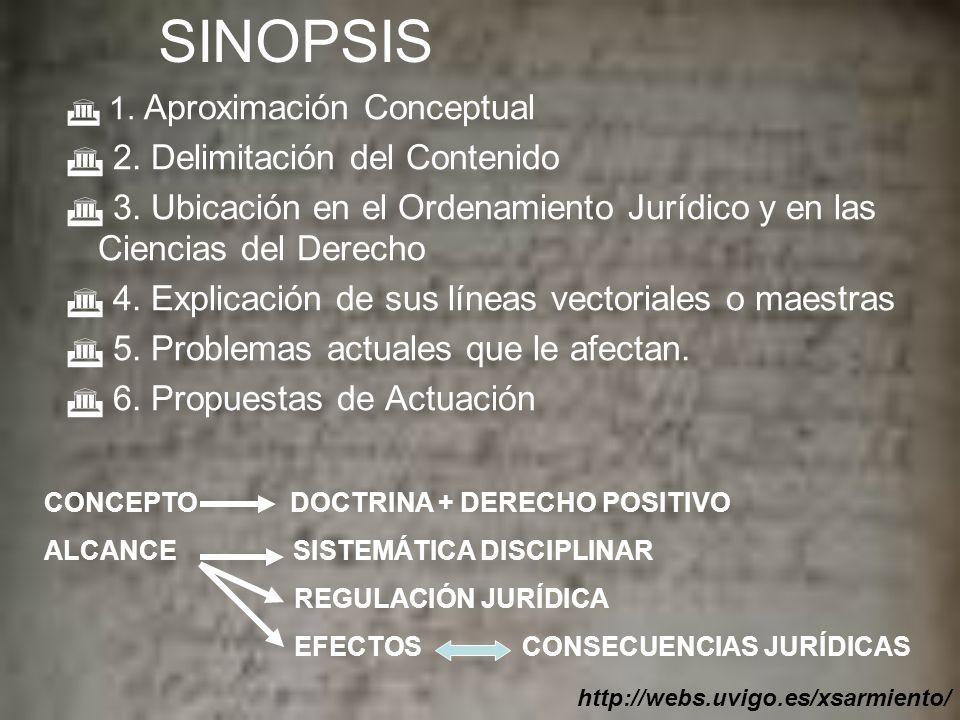 SINOPSIS 1.Aproximación Conceptual 2. Delimitación del Contenido 3.