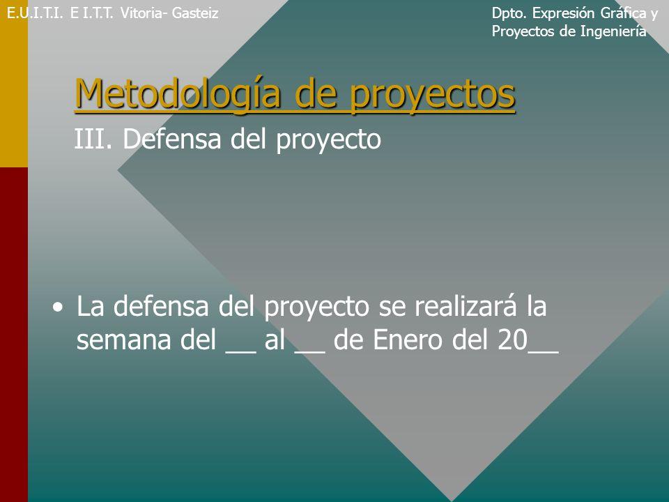 Metodología de proyectos Metodología de proyectos III.