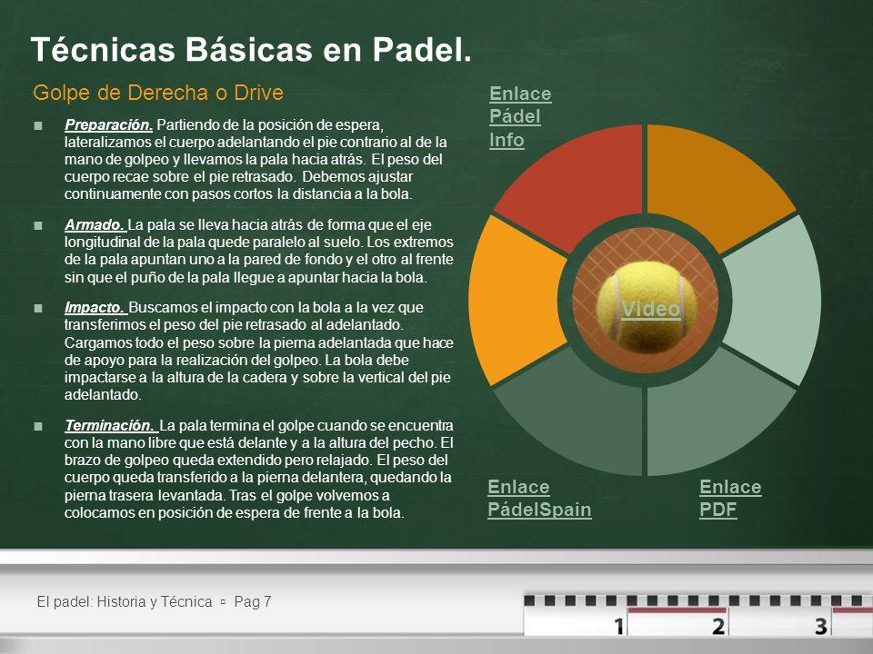 El padel: Historia y Técnica Pag 8 Técnicas Básicas en Padel.