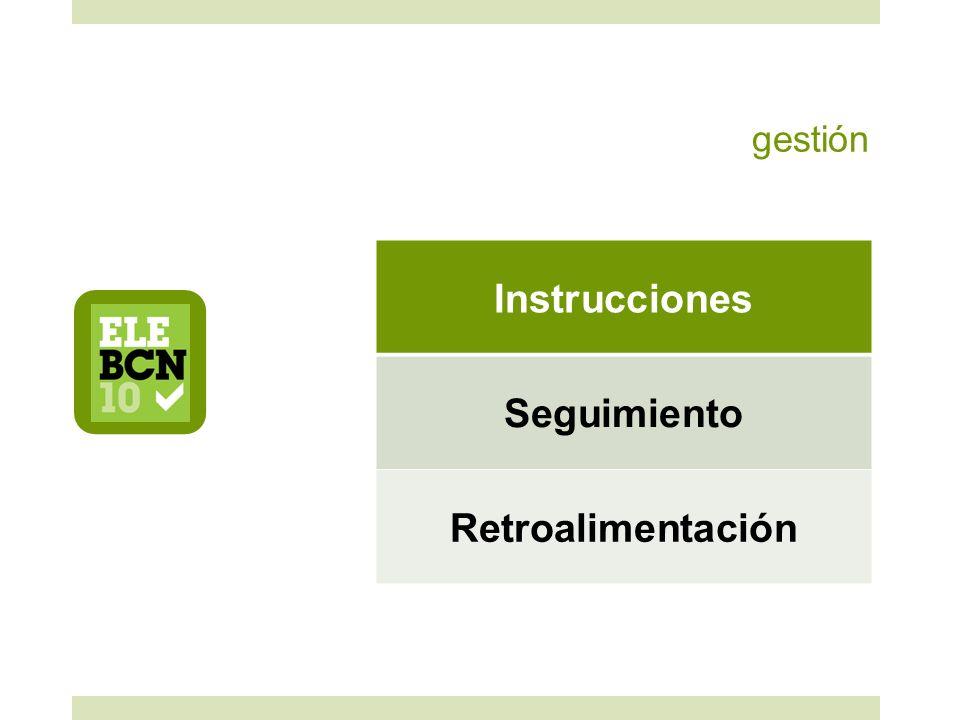 gestión Instrucciones Seguimiento Retroalimentación
