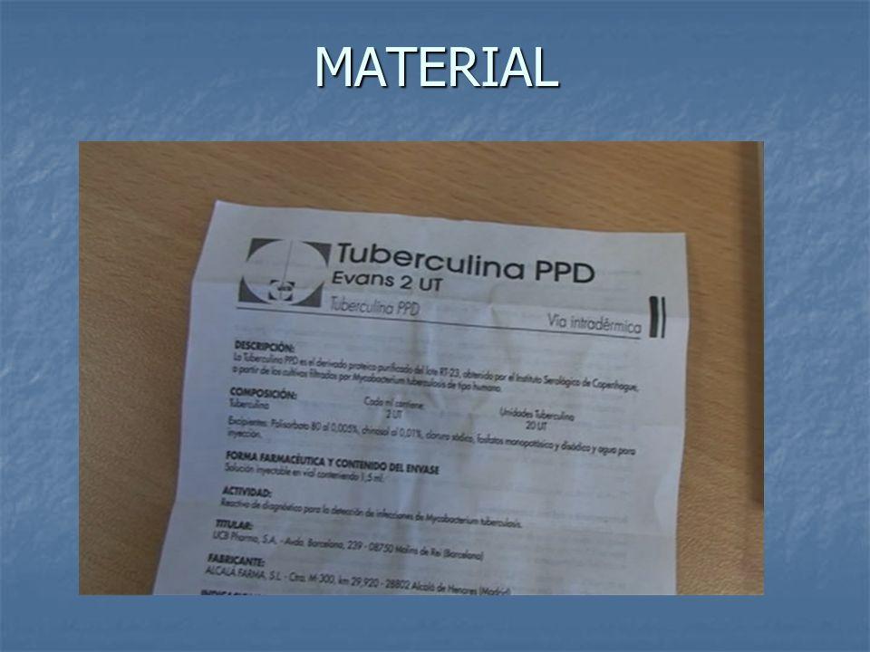 Tuberculina En todos los contactos de prioridad alta o moderada, excepto si han tenido tbc o tienen tuberculina documentada.