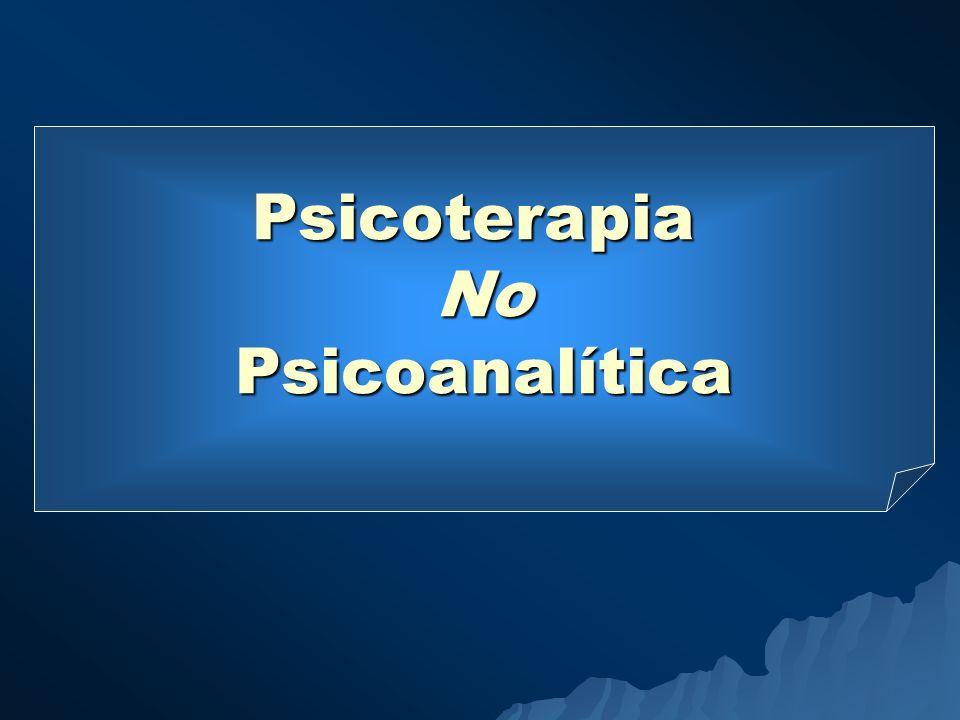 PsicoterapiaNoPsicoanalítica