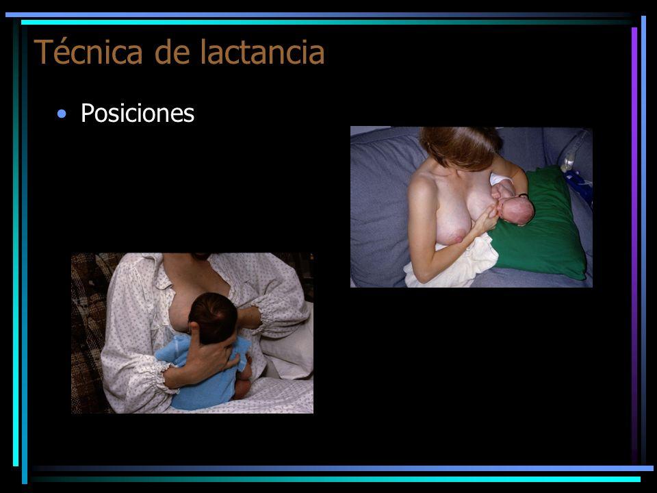 Técnica de lactancia Forma de sostener la mama: entre el pulgar y los demás dedos.