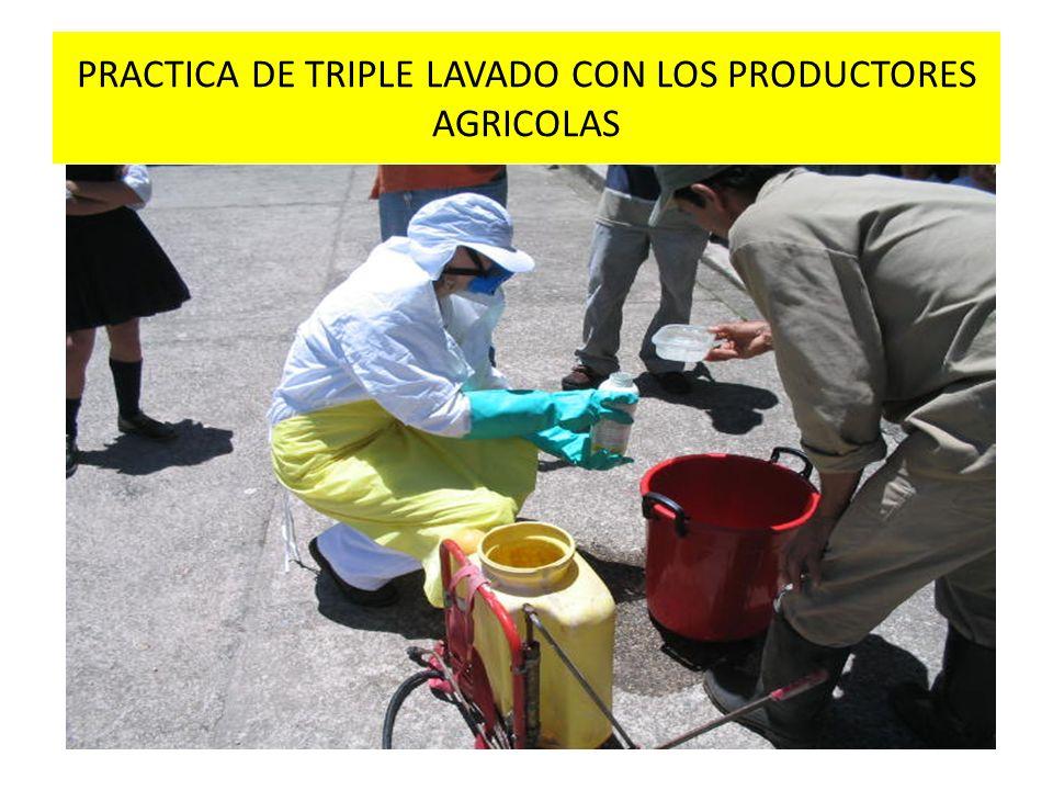 ARCHIVO FOTOGRAFICO DE ASISTENCIA TECNICA CAPACITACION EN TRIPLE LAVADO EN COORDINACION CON CAMPO LIMPIO