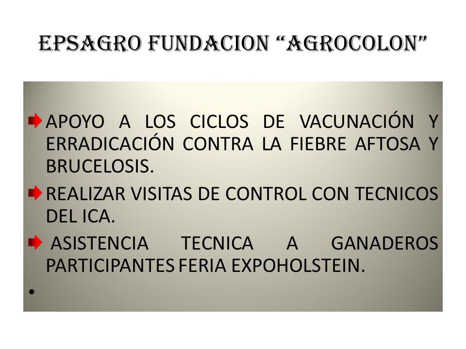 EPSAGRO FUNDACION AGROCOLON CAPACITACIONES A USUARIOS PARA ELABORACIÓN Y MANEJO DE ABONOS ORGÁNICOS. APOYO Y SEGUIMIENTO AL CONTROL DE MONITOREO DE LA