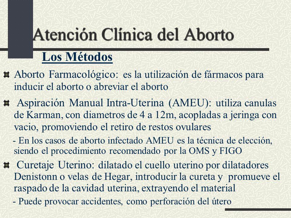Atención Clínica del Aborto Atención Clínica del Aborto Los Métodos Aborto Farmacológico: es la utilización de fármacos para inducir el aborto o abrev