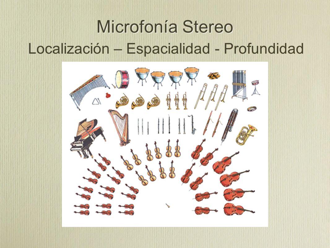 Microfonía Stereo Localización – Espacialidad - Profundidad