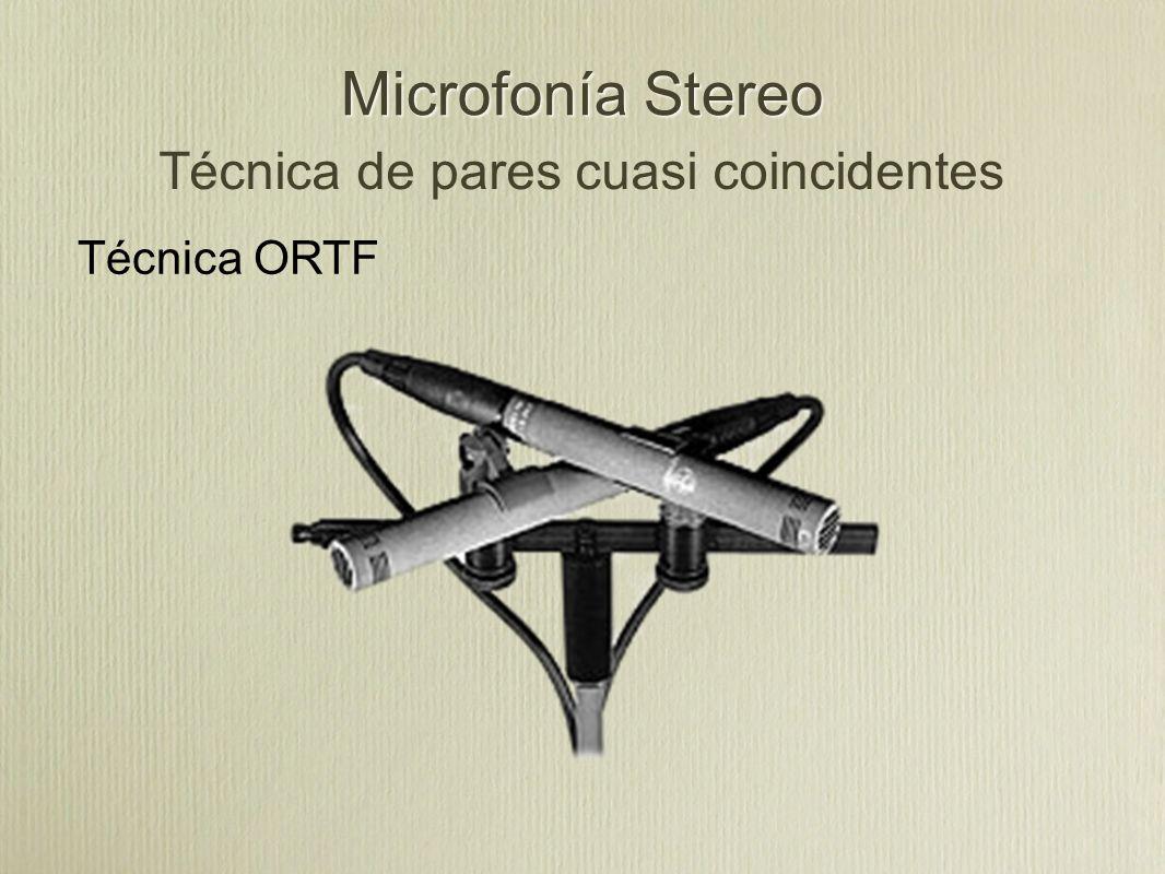 Microfonía Stereo Técnica ORTF Técnica de pares cuasi coincidentes