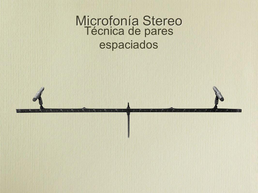 Microfonía Stereo Técnica de pares espaciados
