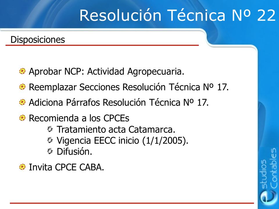 Resolución Técnica Nº 22 Aprobar NCP: Actividad Agropecuaria.