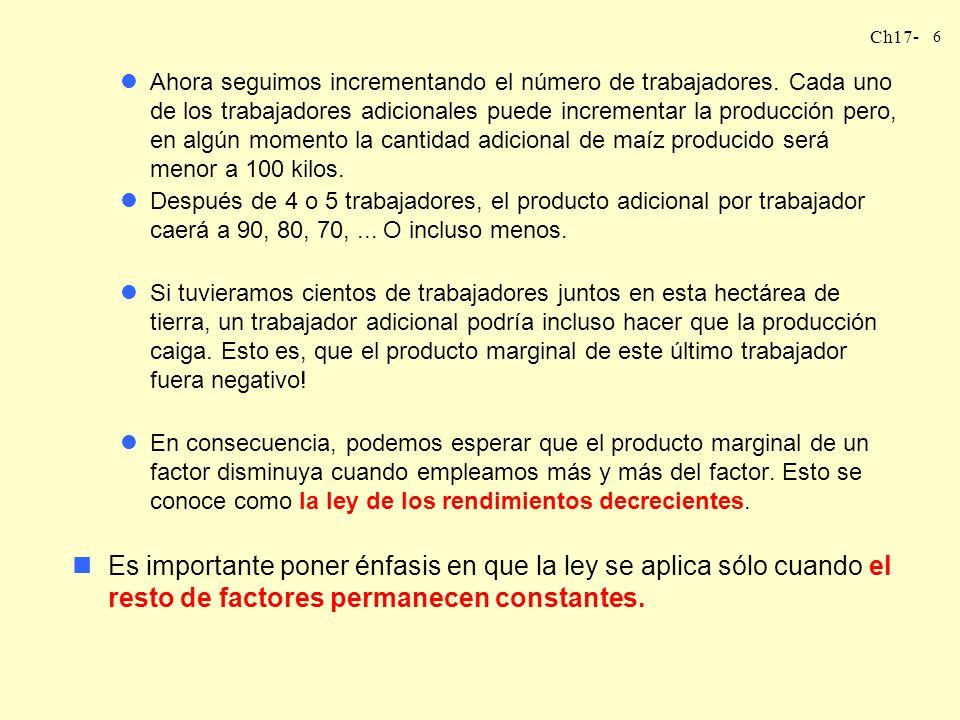 Ch17- 7 TASA TÉCNICA DE SUSTITUCIÓN DECRECIENTE nOtra propiedad relacionada muy de cerca con la tecnología se conoce como la tasa técnica de sustitución decreciente.