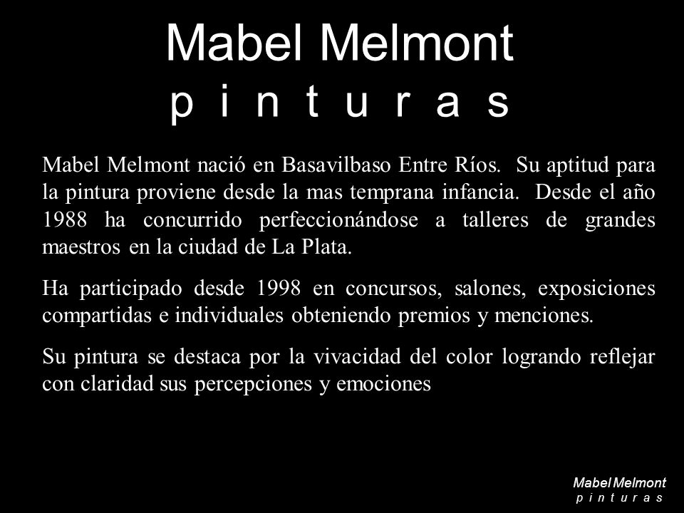 O b r a s Mabel Melmont p i n t u r a s