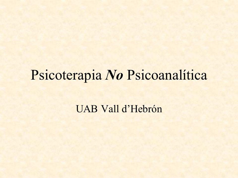 Psicoterapia No Psicoanalítica UAB Vall dHebrón