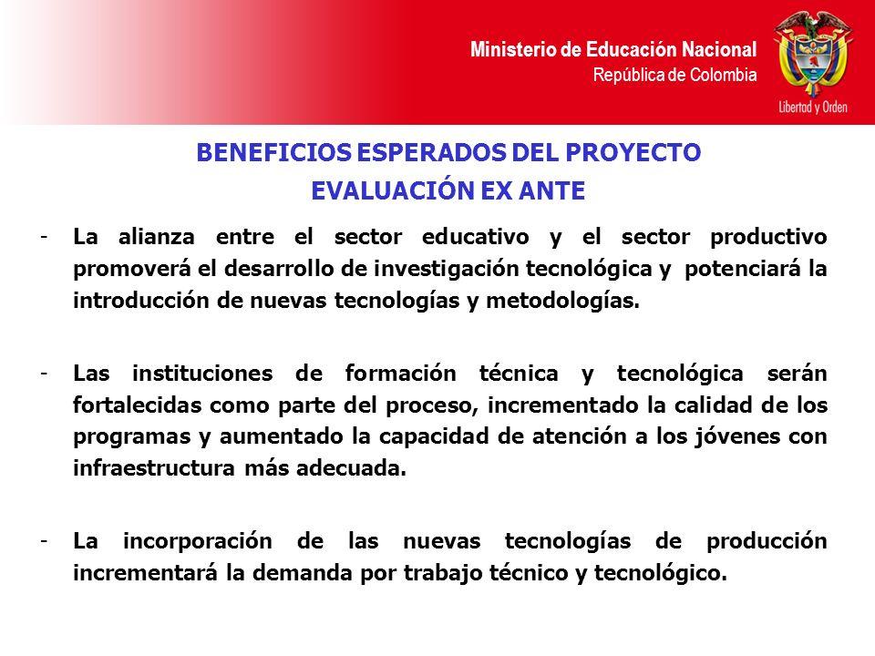 Ministerio de Educación Nacional República de Colombia -La alianza entre el sector educativo y el sector productivo promoverá el desarrollo de investi