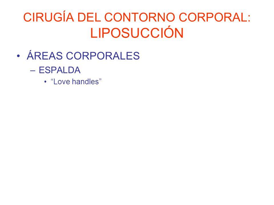 CIRUGÍA DEL CONTORNO CORPORAL: LIPOSUCCIÓN ÁREAS CORPORALES –ESPALDA Love handles