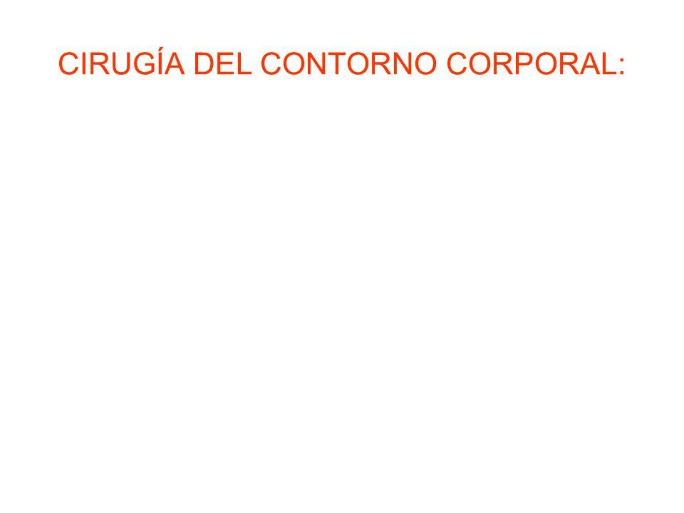 CIRUGÍA DEL CONTORNO CORPORAL: