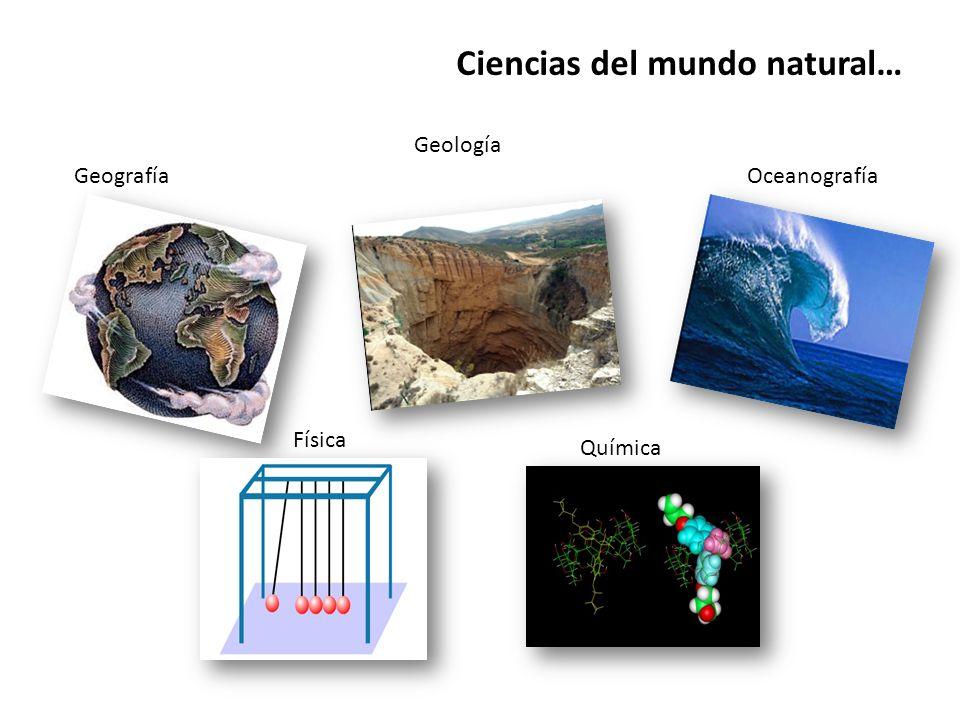 Ciencias del mundo natural… Geografía Geología Oceanografía Física Química