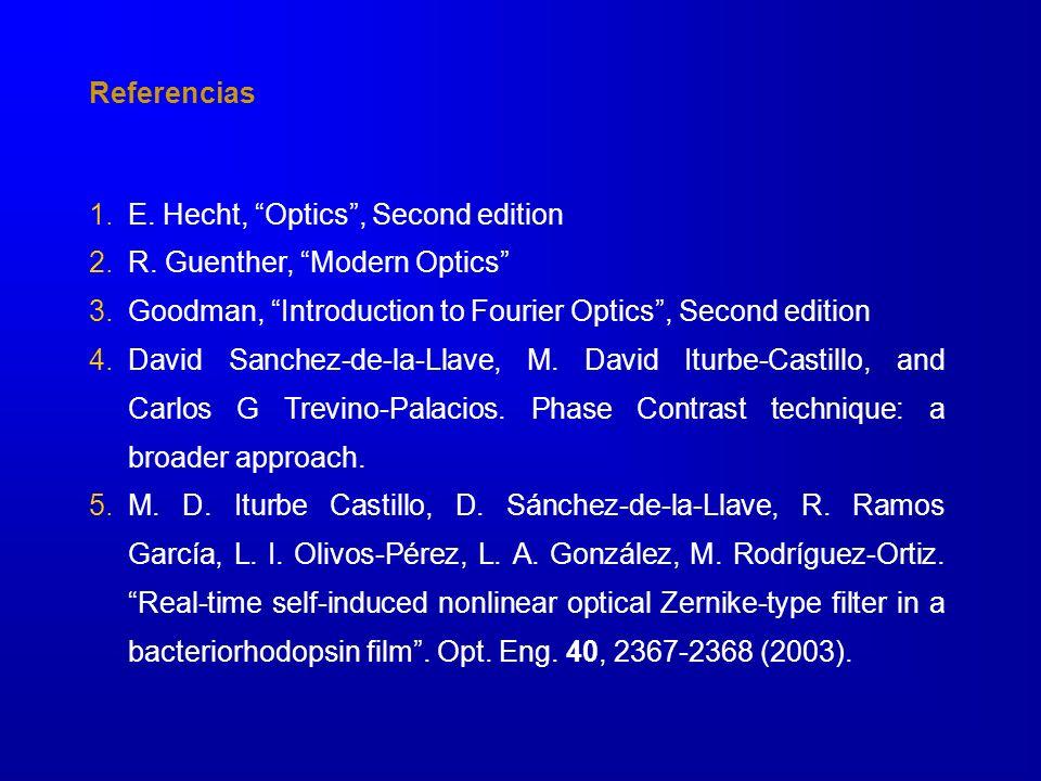 1.E.Hecht, Optics, Second edition 2.R.