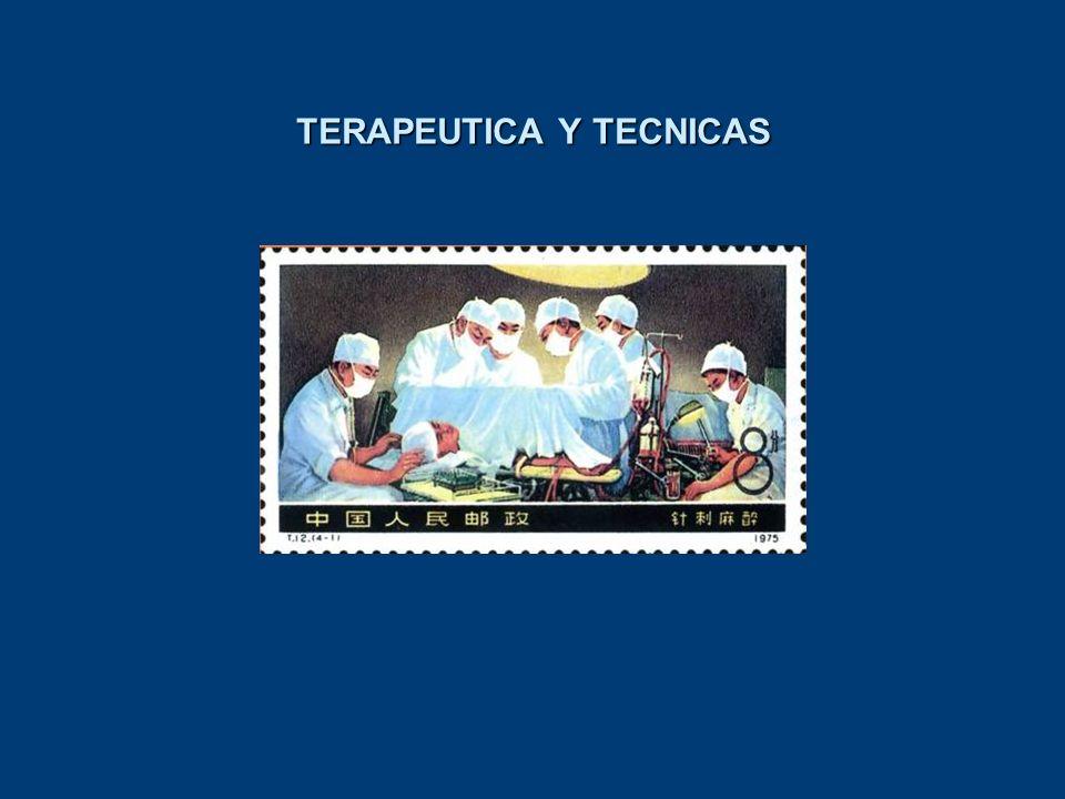 TERAPEUTICA Y TECNICAS