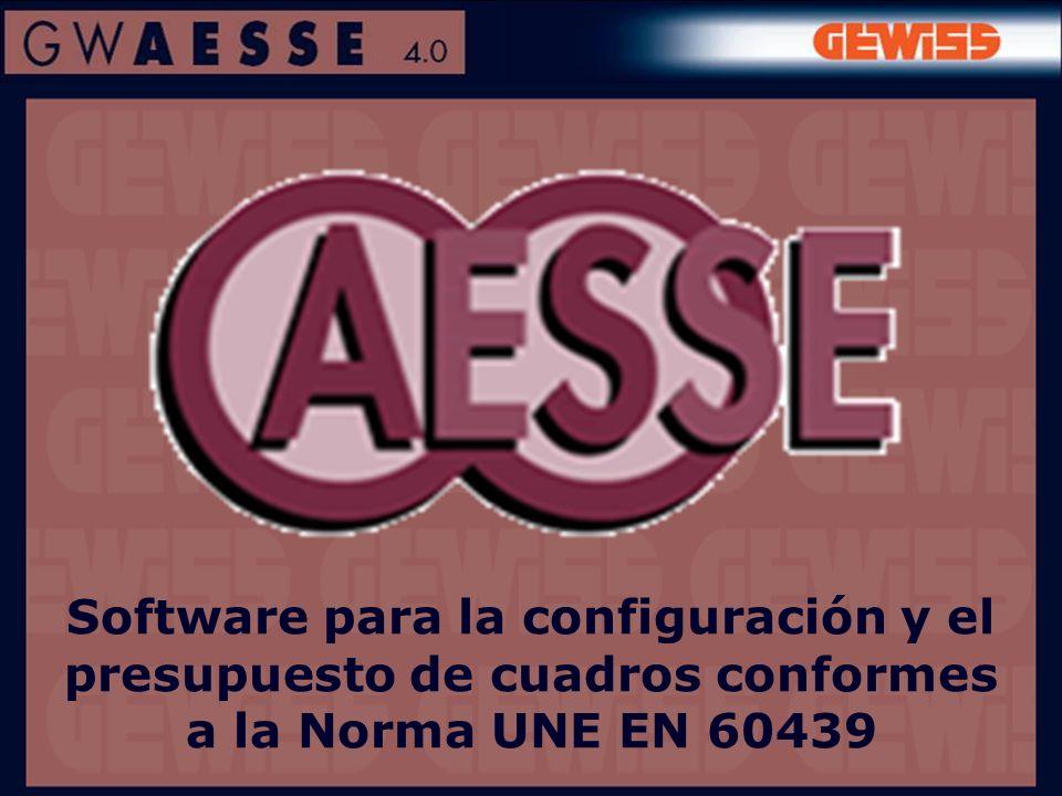 Software para la configuración y el presupuesto de cuadros conformes a la Norma UNE EN 60439