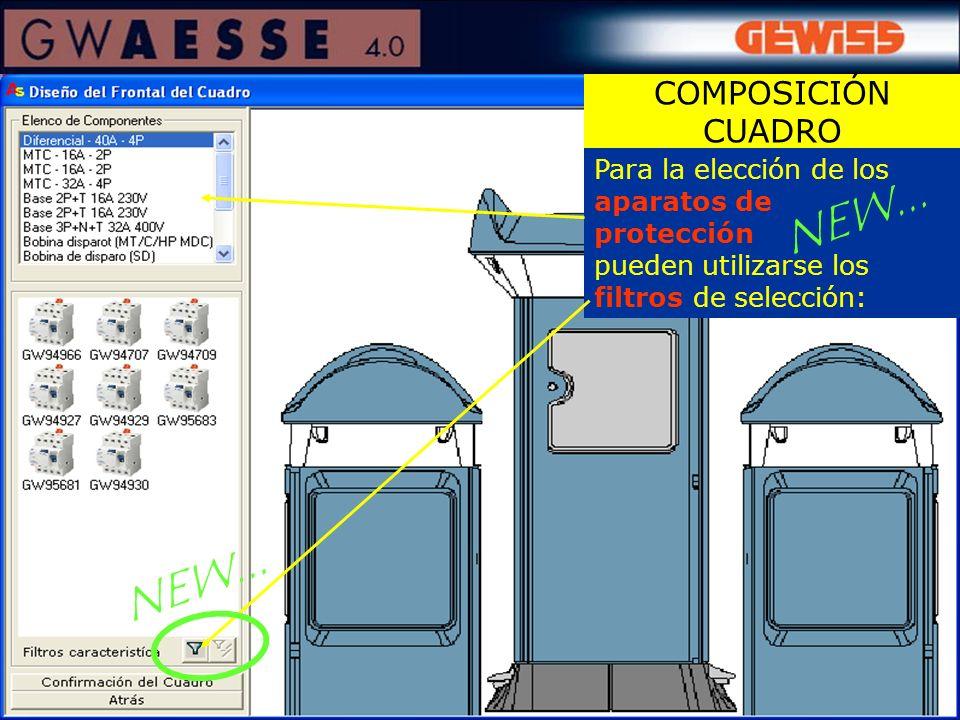 Para la elección de los aparatos de protección pueden utilizarse los filtros de selección: COMPOSICIÓN CUADRO NEW...