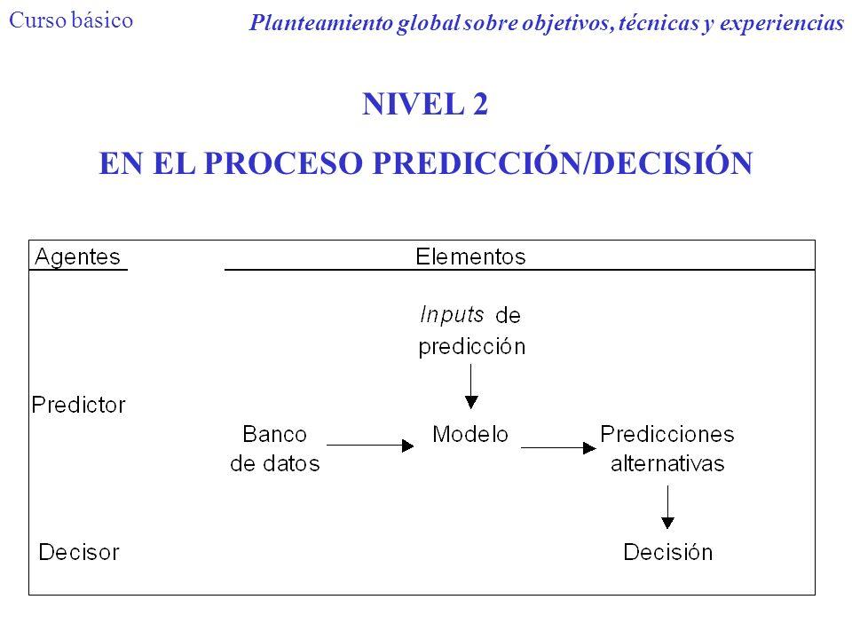 NIVEL 2 EN EL PROCESO PREDICCIÓN/DECISIÓN Curso básico Planteamiento global sobre objetivos, técnicas y experiencias