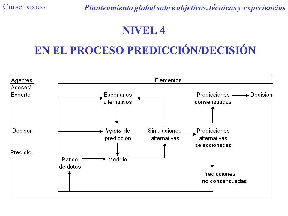 Planteamiento global sobre objetivos, técnicas y experiencias NIVEL 4 EN EL PROCESO PREDICCIÓN/DECISIÓN