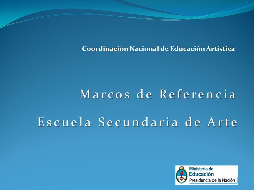 Marcos de Referencia Escuela Secundaria de Arte Coordinación Nacional de Educación Artística