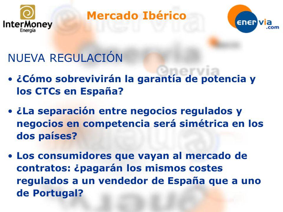 Mercado Ibérico NUEVA REGULACIÓN ¿Cómo sobrevivirán la garantía de potencia y los CTCs en España? ¿La separación entre negocios regulados y negocios e
