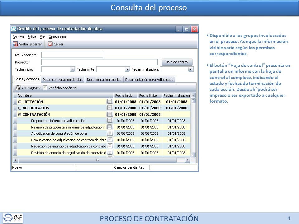 PROCESO DE CONTRATACIÓN 5 Informe jurídico Disponible para los grupos: Dirección de A.