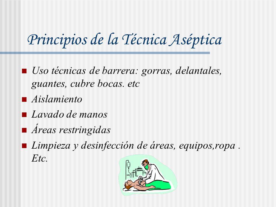 Las áreas para realizar procedimientos médicos deben estar limpias Si se trata de procedimientos quirúrgicos el área debe estar estéril.