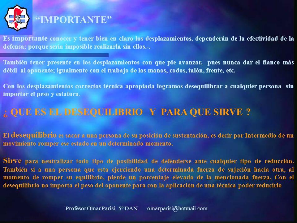 Profesor Omar Parisi 5º DAN omarparisi@hotmail.com ¿DÓNDE TENGO QUE MIRAR CUANDO REALIZO DEFENSA.