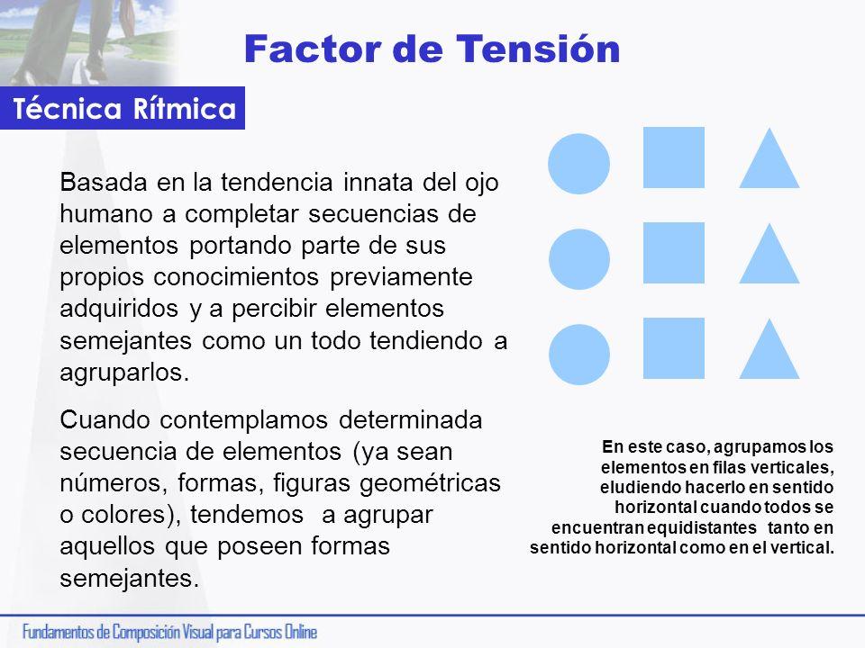 Factor de Tensión Basada en la tendencia innata del ojo humano a completar secuencias de elementos portando parte de sus propios conocimientos previam
