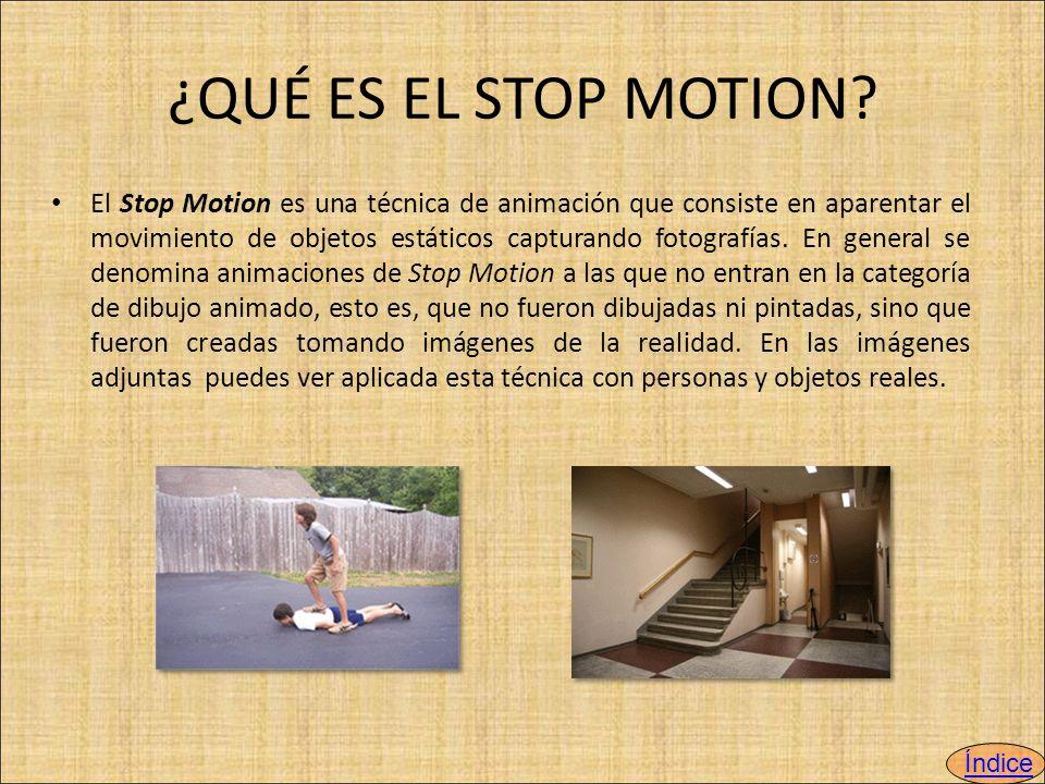 ¿QUÉ ES EL STOP MOTION.
