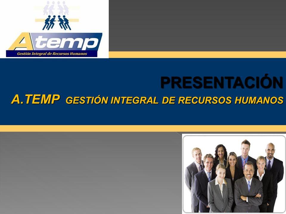 PRESENTACIÓN A.TEMP GESTIÓN INTEGRAL DE RECURSOS HUMANOS