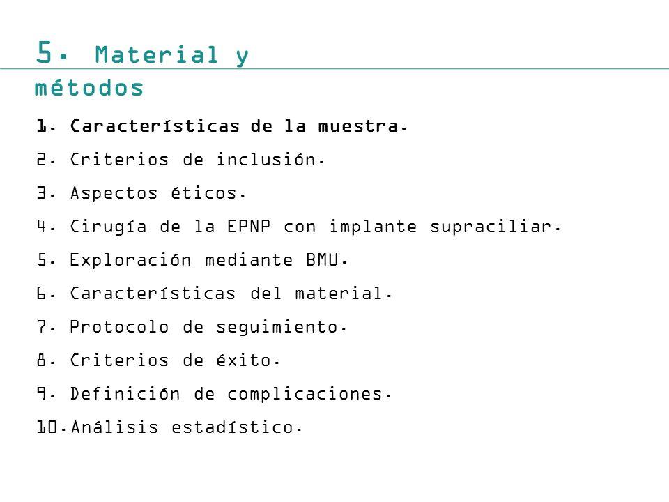 5.Material y métodos 1.Características de la muestra.