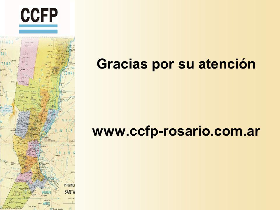 Gracias por su atención www.ccfp-rosario.com.ar