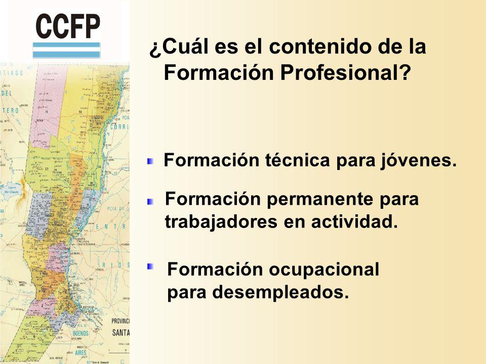 ¿Cuál es el contenido de la Formación Profesional.