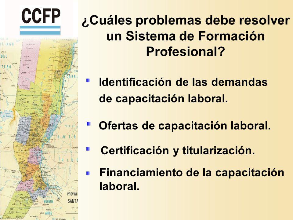 ¿Cuáles problemas debe resolver un Sistema de Formación Profesional.