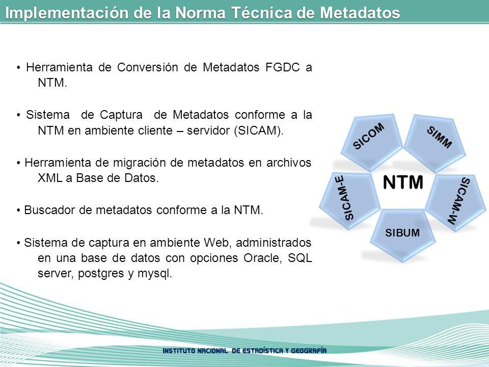 Implementación de la Norma Técnica de Metadatos Herramienta de Conversión de Metadatos FGDC a NTM.